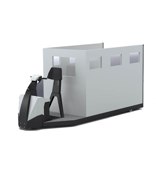 Mezzo elettrico speciale ambulanza interna trasporto degenti TX1000Degenti
